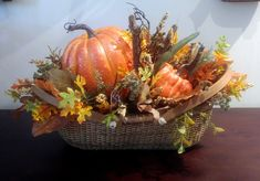 Nantucket Basket - Pumpkins Nantucket Baskets, Oak Leaves, Cape Cod, New England, Artisan, Orange, Vegetables, Fall, Pumpkins