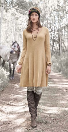 Softest Splendor Dress - cashmere dress has a bit of swing in an updated silhouette.