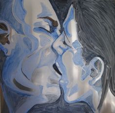 "Saatchi Art Artist Francesca Romana Pinzari; Painting, ""Blue Kiss"" #art"