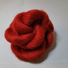 Cashmere Merino Yarn - Cashmere Yarn - Merino Yarn - Lace Weight Yarn - Knitting Yarn - Crochet Yarn - Red Yarn - Red Cashmere - Red Merino