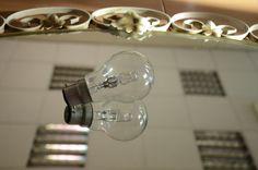 Glass photography~  #reflection #mirror #lightbulb