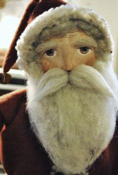 Primitive Santa, Folk Art Olde World Santa ...The Gift Giver