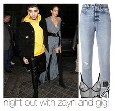 """night out with zayn and gigi."" by girlalmightysyd ❤ liked on Polyvore featuring Golden Goose and Gianvito Rossi"