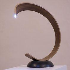 Mobius Desk Lamp - Joachim King Wooden Lighting