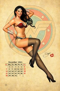 Wonder Woman Pinup by Nszerdy :: the fact that this is seventy thousand times sexier than the crap spit out these days...is cool.