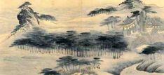 (Korea) 월송정, 관동명승 by Gyeomjae Jeong Seon (1676-1759). ca 18th century CE. color on paper. 월송정. 관동명승첩.