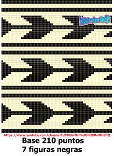 Wayuu Mochila pattern Tapestry Crochet Patterns, Bead Loom Patterns, Beading Patterns, Stitch Patterns, Crochet Chart, Filet Crochet, Diy Crochet, Knitting Charts, Knitting Patterns