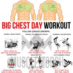 CHEST DAY WORKOUT GYM BODYBUILDING MUSCLE MUSCLEMORPH
