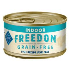 BLUE Freedom® Grain Free Fish Indoor Adult Cat Food-24ct Case Pack | Canned Food | PetSmart