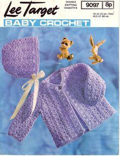 Vintage PDF BABY Crochet Pattern  Lee Target by AlwaysKnitting2, £1.25