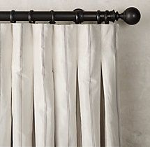 French pleat drapery panel sketch google search client for Restoration hardware silk curtains