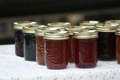 Strawberry jam, plum jam, peach jam, blueberry jam, grape jam—any fruit can be cooked with sugar to make jam. Late summer is home-made jam season—unless yo