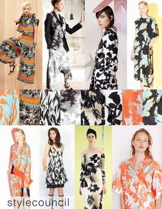 Style Council: Resort 2016 Trend Report - These bright abstract floral prints are perfect for keeping cool on that spontaneous get away.