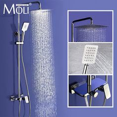 Wall Mounted Rain Shower Set Luxury Square Shower Head 8 10 12 Shower Set with Hand Shower (32580121686) SEE MORE #SuperDeals