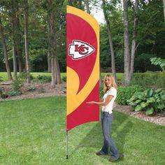 Tall Team Flag with Pole - Kansas City Chiefs