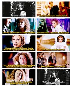 The Doctor gives credit to River Song Doctor Who, 11th Doctor, Alex Kingston, Hello Sweetie, Don't Blink, Torchwood, Geronimo, Bad Wolf, My Escape