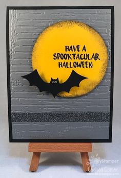 Spooktacular Halloween card featuring Fun Stampers Journey stamps and dies