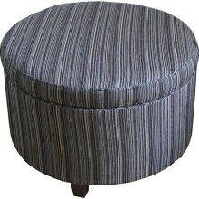 Large Round Storage Ottoman