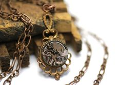 Antique Button Necklace by ChatterBlossom #cottage #necklace #antique #jewelry #home