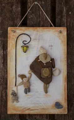 Stafano Furlani is méltatta a munkáit Stone Crafts, Rock Crafts, Diy And Crafts, Arts And Crafts, Mosaic Projects, Projects To Try, Pebble Art Family, Barn Wood Crafts, Pebble Pictures