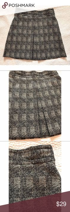 """{Zara} Plaid Mini Skirt Black & cream plaid mini skirt. Inverted front pleat. Approx 17.5"""" long. Location: B1 Zara Skirts Mini"""