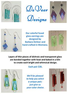 DeVeer Designs Earrings - a gift for anyone who loves unique and colorful jewelry.
