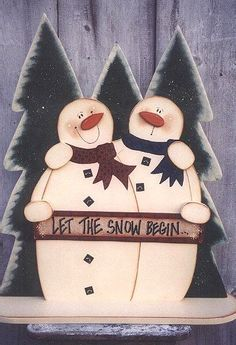 Snowman Tole Painting Patterns Free | Decorative Woodcraft & Tole Painting Pattern Packets by Heidi Markish ...