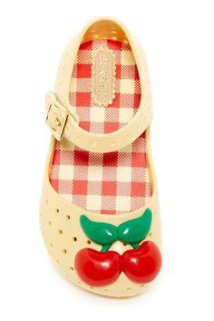 Image of Mini Melissa Mini Furadinha lll Cherry Mary Jane (Toddler)
