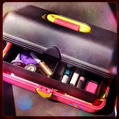 """Pin"" if you loved bright, plastic cosmetic organizers in the '80s and '90s. #Sephora #Beauty #BeautyNostalgia"