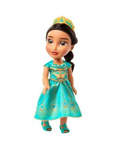 Disney Jasmine My First Toddler Doll - Teal Dress, One Colour - One Colour - Jasmine Disney, Aladdin Et Jasmine, Disney Princess Toddler Dolls, Disney Dolls, Teal Outfits, Doll Shoes, Toys For Girls, Little Ones, Doll Clothes
