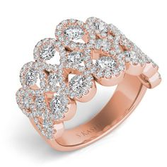 Rose Gold Fashion Ring style number D4263RG.