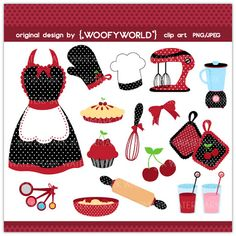 cooking clip art, baking clipart - Digital clip art, cooking ...
