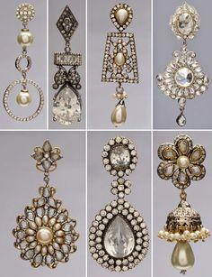 Diferentes estilos de pendientes para novias.