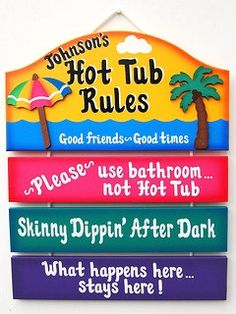 Personalized Outdoor Hot Tub Sign by UniquelyCraftedSigns on Etsy, $31.95