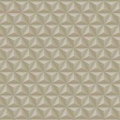 Papel De Parede Coleção Diplomata Geométrico 3D Bege 3130                                                                                                                                                     Mais