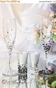 10% de descuento novios Pearl flautas de champán y tiro gafas