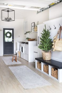 "Outstanding ""laundry room stackable ideas"" information is available on our web pages. Read more and you wont be sorry you did. Decor, Garage Laundry Rooms, Garage Laundry, Converted Garage, Room, Room Design, Room Decor, Mudroom, Simple Christmas"