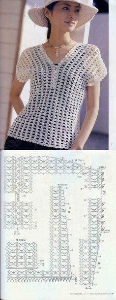 Crochet blouse... ♥ Deniz ♥