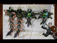 SnakeBird Chilli Bead Earrings Jewelry Making Tutorial - Lessons With Odin
