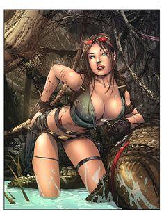 Tomb Raider by Eric Basaldua, colors by nahp75.deviantart.com on @deviantART