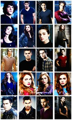 Scott, Allison, Stiles, Lydia,  Derek