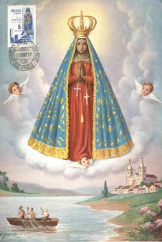 A postcard from 1967 of Our Lady of Aparecida, the national patroness of Brazil.