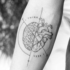 Tattoo Man And Woman : Anatomical Heart Tattoo - # Trend # Hörtattoo # . Mini Tattoos, Sexy Tattoos, Cute Tattoos, Body Art Tattoos, Small Tattoos, Tattoos For Guys, Sleeve Tattoos, Tatoos, Best Female Tattoos