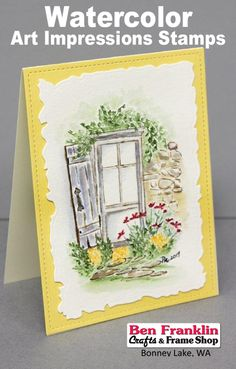 Craft Classes and Events {Calendar} - Ben Franklin Crafts and Frame Shop, Bonney Lake, WA Watercolor Images, Watercolor Cards, Scrapbook Paper Crafts, Scrapbooking, Water Color Markers, Tombow Markers, Art Impressions Stamps, Christian Cards, Window Cards