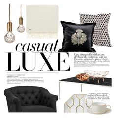 """casual luxe"" by punnky-interiors ❤ liked on Polyvore featuring interior, interiors, interior design, home, home decor, interior decorating, Eichholtz, Timorous Beasties, Tom Dixon and Lee Broom"