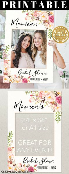 BEST SELLER!! PRINTABLE Photo Prop for Bridal Shower! Custom made and instant download. Fun way to capture memories of your guests at your shower! Click the link to buy it NOW at Etsy.com! #showerideas #bridalshowerideas #photoideas #giftideas #partyideas #weddings #diypartydecor #ad