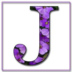 "GRANNY ENCHANTED'S FREE DIGITAL SCRAPBOOK KITS: ""Purple Flowers"" Free Scrapbook Alphabet Letters in JPG & PNG"