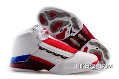 huge selection of 2a096 93b28 Air Jordan 17 White Varsity Red-Charcoal New Style  MensFashionSneakers Jordan  Shoes For