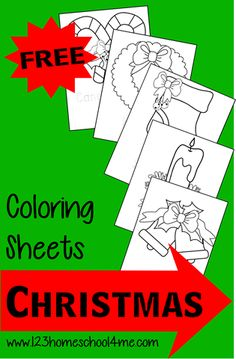 Christmas: Free Coloring Sheets
