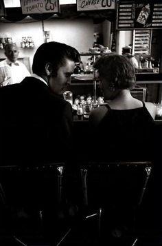 Elvis having a coffee with a girl he just met. Virginia, 1956 © Alfred Wertheimer